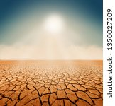dry salt sea desert landscape ... | Shutterstock . vector #1350027209