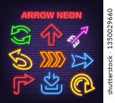 arrow neon icons  vector neon... | Shutterstock .eps vector #1350029660