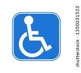 disabled handicap icon | Shutterstock .eps vector #1350031523