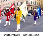 "pisa  pi   italy march 25 2019 ""... | Shutterstock . vector #1350060356"