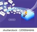 modern infographics isometric... | Shutterstock .eps vector #1350064646