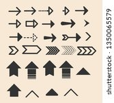 arrow vector icon set | Shutterstock .eps vector #1350065579