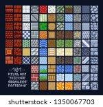 pixel art style set of... | Shutterstock .eps vector #1350067703