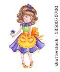 Cute Girl In Beautiful Dress...
