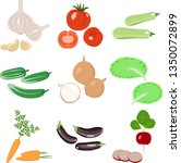 produce.set of vegetable icons... | Shutterstock .eps vector #1350072899