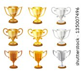 trophy set. vector | Shutterstock .eps vector #135007496