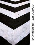 street arrows on the road as... | Shutterstock . vector #135008930