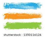 grunge brush stroke banners | Shutterstock .eps vector #1350116126