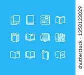 vector illustration of 12 book... | Shutterstock .eps vector #1350123029