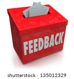 a red feedback box for... | Shutterstock . vector #135012329