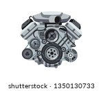 Power Car Engine Isolated...