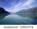 brienz lake in switzerland | Shutterstock . vector #135013778