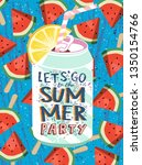 summer  let's go to the summer... | Shutterstock .eps vector #1350154766