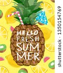 hello summer  cute vector... | Shutterstock .eps vector #1350154769