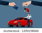 the car dealer's make an... | Shutterstock .eps vector #1350158060
