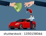 the car dealer's make an... | Shutterstock .eps vector #1350158066
