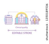 clinical quality concept icon.... | Shutterstock .eps vector #1350189536