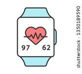 fitness tracker color icon.... | Shutterstock .eps vector #1350189590