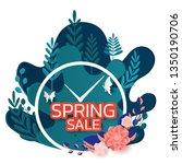 paper art style. spring sale... | Shutterstock .eps vector #1350190706