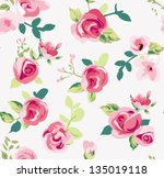 seamless tiny rose pattern... | Shutterstock . vector #135019118