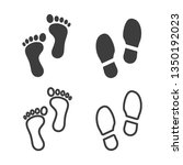 footprints vector icons set... | Shutterstock .eps vector #1350192023