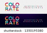 modern font creative rounded... | Shutterstock .eps vector #1350195380