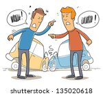 two mans debate who is to blame ... | Shutterstock .eps vector #135020618