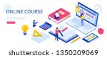 online education concept with... | Shutterstock .eps vector #1350209069