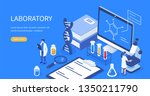 medical laboratory concept. can ... | Shutterstock .eps vector #1350211790
