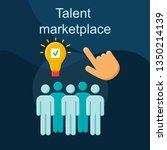 talent marketplace flat concept ...   Shutterstock .eps vector #1350214139