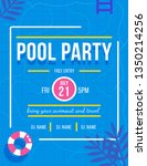 pool party invitation concept.... | Shutterstock .eps vector #1350214256