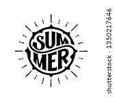 summer. typography for t shirt. ... | Shutterstock .eps vector #1350217646