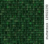 binary computer code repeating... | Shutterstock .eps vector #135022250