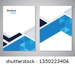 vector modern brochure ... | Shutterstock .eps vector #1350223406