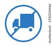 van not allowed glyph double... | Shutterstock .eps vector #1350226466