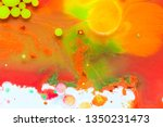 red and green paint background... | Shutterstock . vector #1350231473
