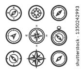 vector compass icons set... | Shutterstock .eps vector #1350242993
