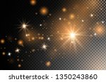 the dust sparks and golden... | Shutterstock .eps vector #1350243860