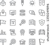 thin line icon set   statistic... | Shutterstock .eps vector #1350249896
