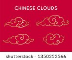 asian style  chinese clouds set ... | Shutterstock .eps vector #1350252566