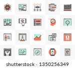 flat line icons set of web... | Shutterstock .eps vector #1350256349