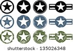 vintage distressed military... | Shutterstock .eps vector #135026348