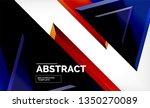 tech futuristic geometric 3d... | Shutterstock .eps vector #1350270089