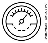fuel tachometer icon. outline...