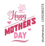 happy mother's day emblems or... | Shutterstock .eps vector #1350280373
