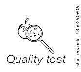 quality test hand draw icon....