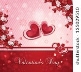 valentine's day card with... | Shutterstock . vector #135029510