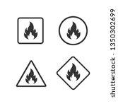 fire warning dangerous flame... | Shutterstock .eps vector #1350302699