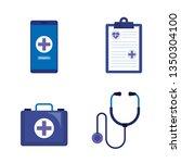 set medical online diagnosis... | Shutterstock .eps vector #1350304100