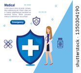 woman doctor service with... | Shutterstock .eps vector #1350304190